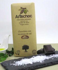 Chocolate con Escamas de Sal