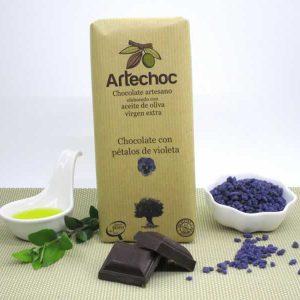 Chocolate con Pétalos de Violeta